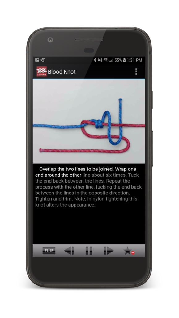 Animated Knots App Blood Knot Instructions