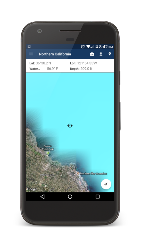 Fish Track App Water Depth and Temperature