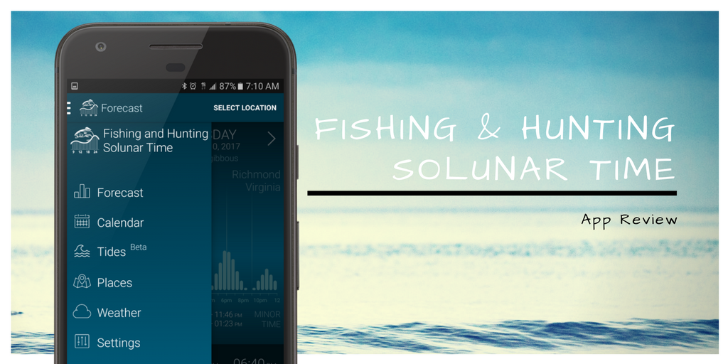 Fishing and Hunting Solunar Time App Review