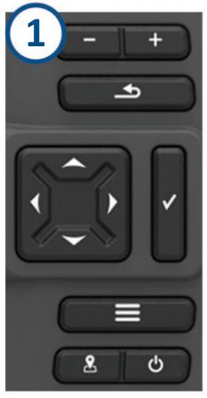 Garmin Fishfinder Buttons