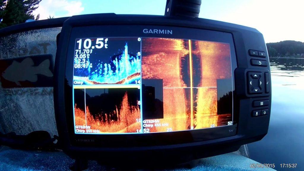 Garmin Striker 7SV Screen Display