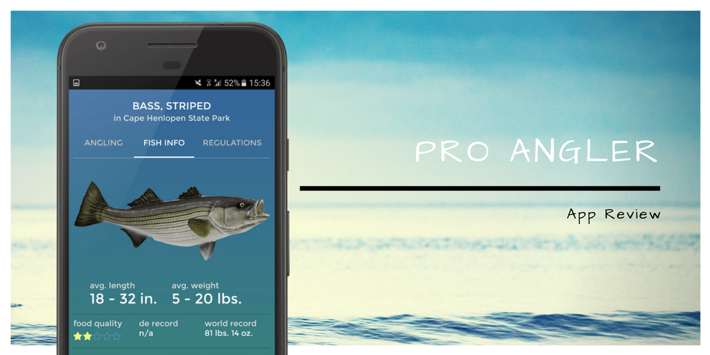 Pro Angler App Cover Page