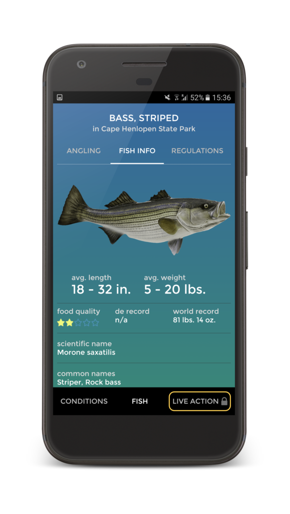 Pro Angler App Fish Info