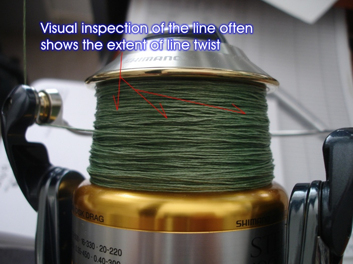 Visual inspection of line twist