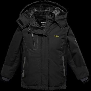 Wantdo Girl's Hooded Ski Fleece Jacket Waterproof
