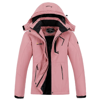 MOERDENG Women's Waterproof Ski Jacket