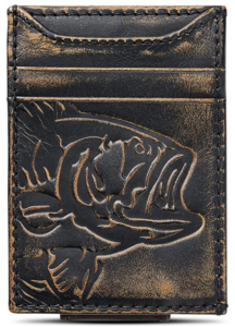 HOJ Co. BASS FISH Front Pocket Wallet