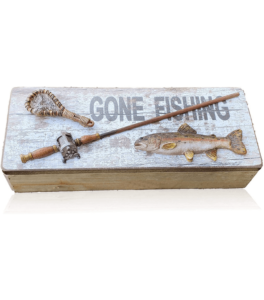 Wood Gone Fishing Box