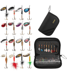PLUSINNO Fishing Lures for Bass With Portable Carry Bag
