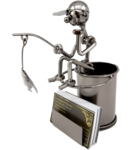 Fisherman Figurine Pencil Holder