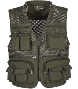 Flygo Mens Summer Fishing Vest with Pockets